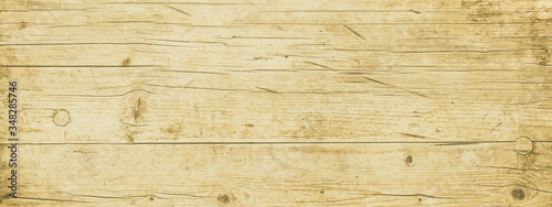 Fototapeta Old brown rustic light bright wooden texture - wood background panorama banner long  obraz