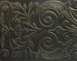 canvas print picture - Floral Design On Metal Frame