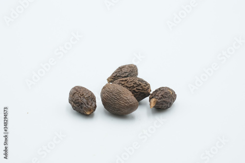 Kembang semangkuk or Sterculia lychnophora or Scaphium affine shot on a white isolated background Wallpaper Mural