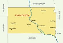 South Dakota - Vector - State Of USA