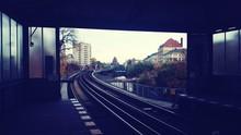 Railway Tracks Along Buildings