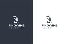 Pingwin Icon Logo Vector Design