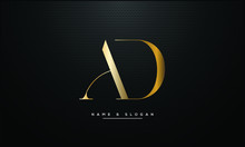 AD ,DA ,A ,D  Letters Abstract Logo Monogram