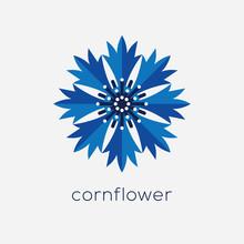 Stylized Cornflower Logo.
