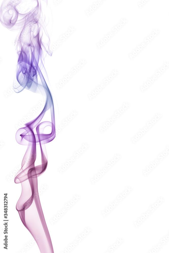 Fototapeta Kolorowy dym z kadzidła.