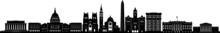 WASHINGTON D.C. Columbia City Skyline Silhouette Cityscape Vector
