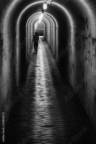 Fotografija Man Walking On Passage