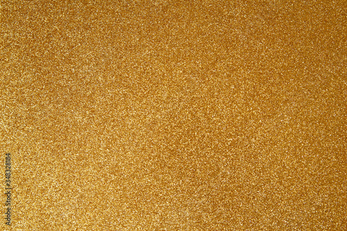 Fotografía Gold glitter texture sparkling paper background