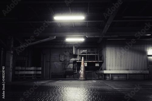 Photo Illuminated Lights In Factory