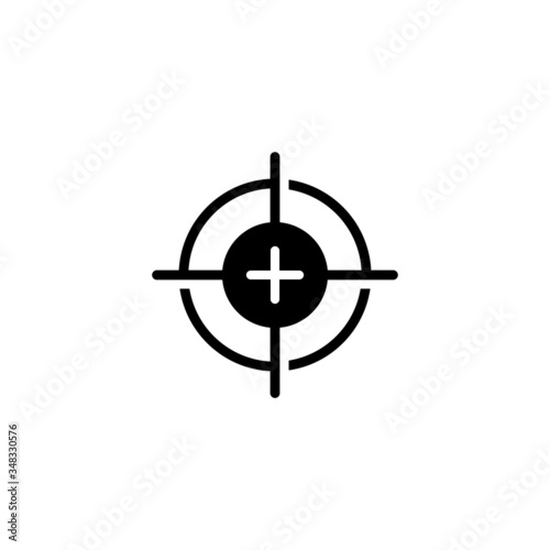 Photo Calibrate vector icon in black solid flat design icon isolated on white backgrou
