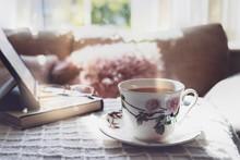 Hight Key Light Tea Cup On Cof...