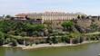 Drone video of Petrovaradin Fortress, an important landmark of Novi Sad, Serbia