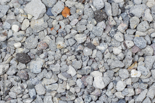 Crushed stone, gravel, aggregate for concrete mix, close-up. Wallpaper Mural
