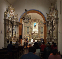 People Gathered In Church For Religious Mass
