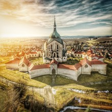 Pilgrimage Church Of Saint John Of Nepomuk Against Cloudy Sky
