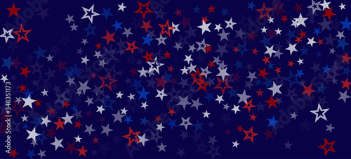 National American Stars Vector Background Tableau sur Toile