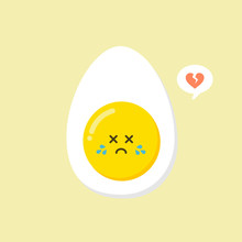 Kawaii And  Cute Egg Faces. Ea...
