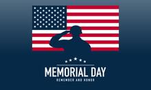 Memorial Day Background Vector...