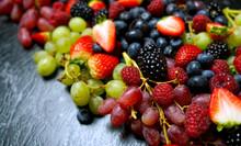 Summer Berries Food Background...