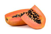 Ripe Papaya Slice Isolated On ...