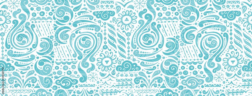 Fototapeta Four elements concept. Air design background. Seamless pattern print