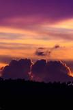 Fototapeta Na ścianę - Silhouette Landscape Against Dramatic Sky During Sunset