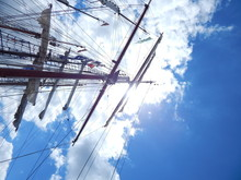 Low Angle View Of Mast Against...