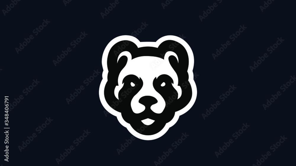 Fototapeta Panda Mascot Vector Logo