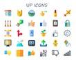 up icon set