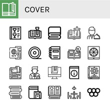 Cover Simple Icons Set