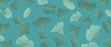 Luxury Gold Ginkgo Wallpaper D...