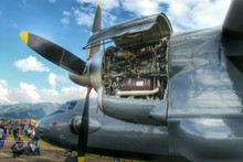 Engine Of Airplane In Airshow