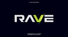 Rave, A Bold Modern Sporty Typ...