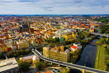 Aerial View On The City Plzen. Czech Republic