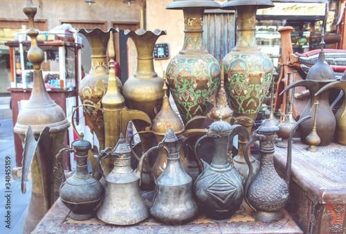 Fototapeta View Of Jars For Sale obraz