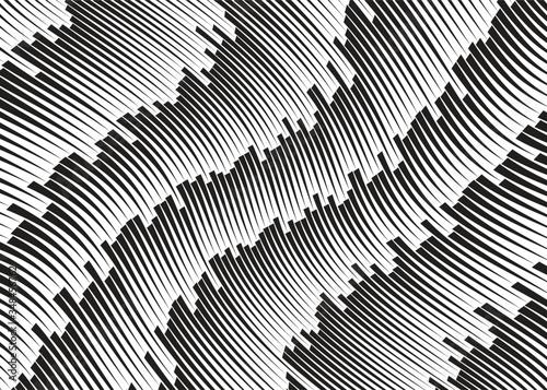 Cuadros en Lienzo Line art optical art