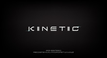 Kinetic, An Abstract Technology Science Alphabet Font. Digital Space Typography Vector Illustration Design