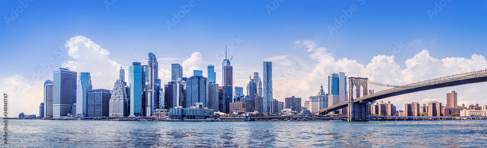 Fototapeta the skyline of manhattan, new york