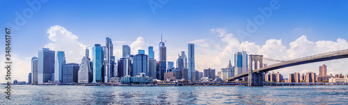the skyline of manhattan, new york
