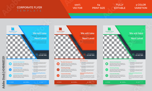 Fototapeta Business Style Abstract Corporate Flyer Design Vector Template