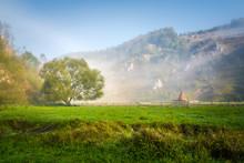 Idyllic Landscape In The Carpa...