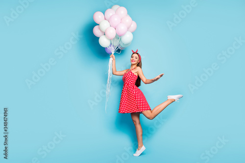 Fotografía Full length body size view of her she nice attractive carefree dreamy cheerful c