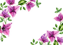 Watercolor Floral Background F...