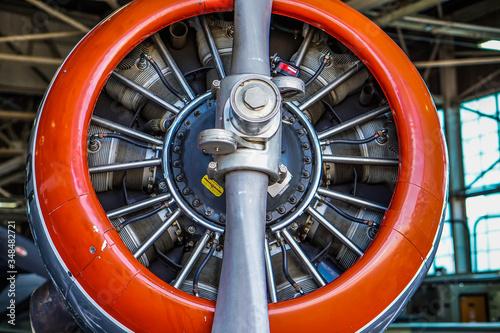 Photo Close-up Of Airplane Engine