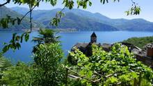 Blick Von Carmine Auf Den Lago...