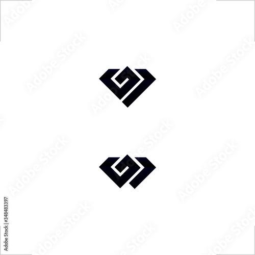 diamond logo initial G1 modern design Wallpaper Mural