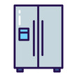 Two-chamber refrigerator color line icon. Kitchen appliance. Household equipment. Sign for web page, mobile app, banner.