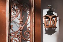 Door And Lantern In Vintage St...