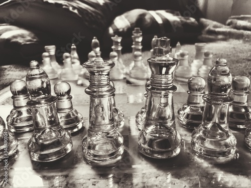 Close-up Of Chess Pieces Fototapeta