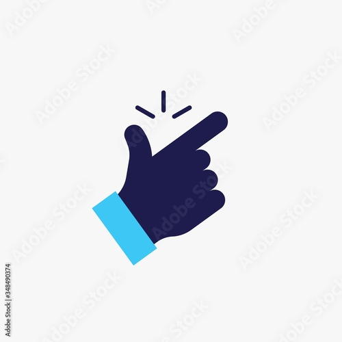 Foto finger snapping vector icon click sound